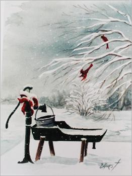 Christmas Pump Print